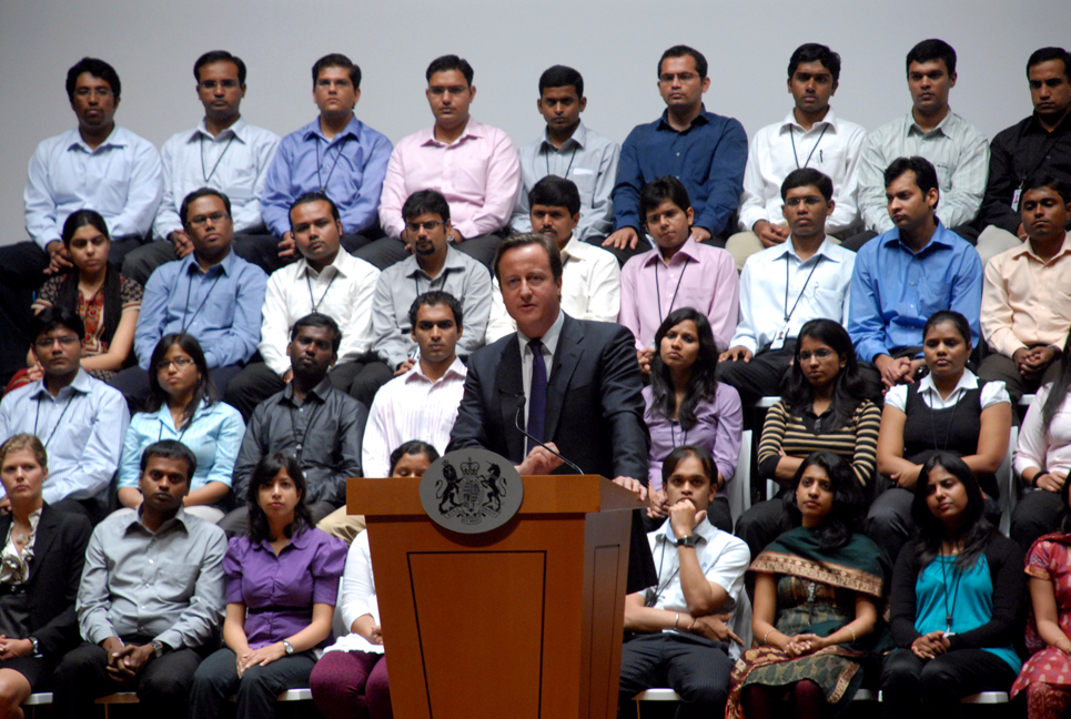 Prime Minister David Cameron at Infosys