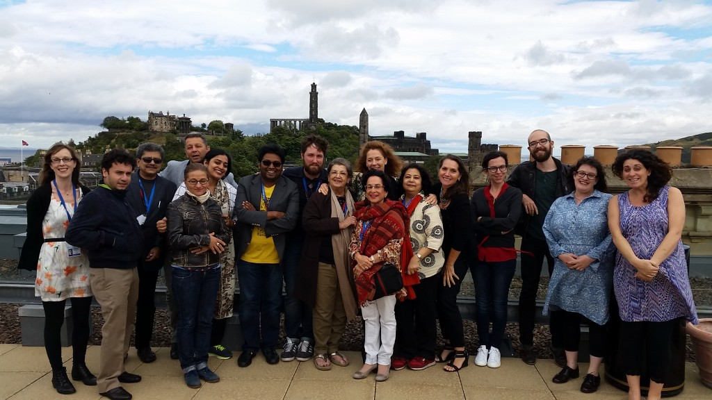 Literature delegation in Edinburgh