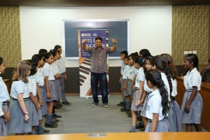 School children at the NDMC workshop in New Delhi