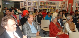 Audience members enjoy the reading session at the British Library