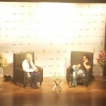 Ian McKellen speaks to Aamir Khan at the NCPA, Mumbai