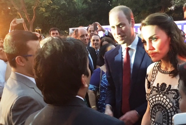 The Duke and Duchess of Cambridge meeting the winners of EdUk Alumni Awards 2016 in Delhi