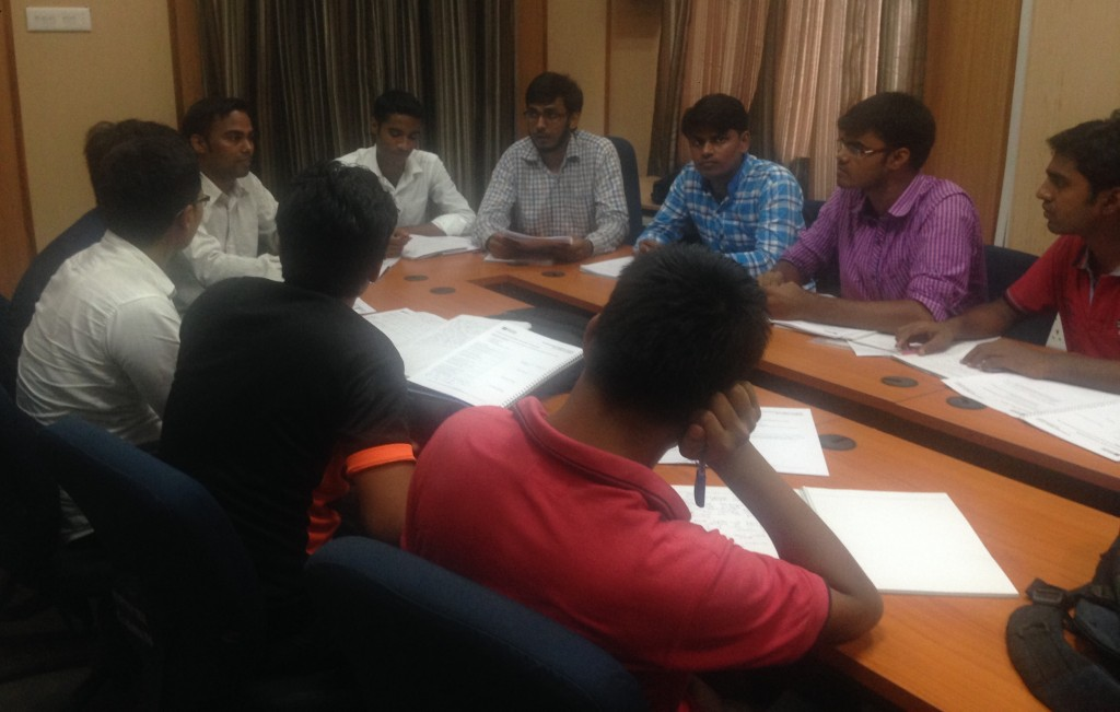 NIT Patna students engrossed in a group discussion