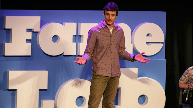 FameLab International winner Padraic Flood presenting his research at the competition