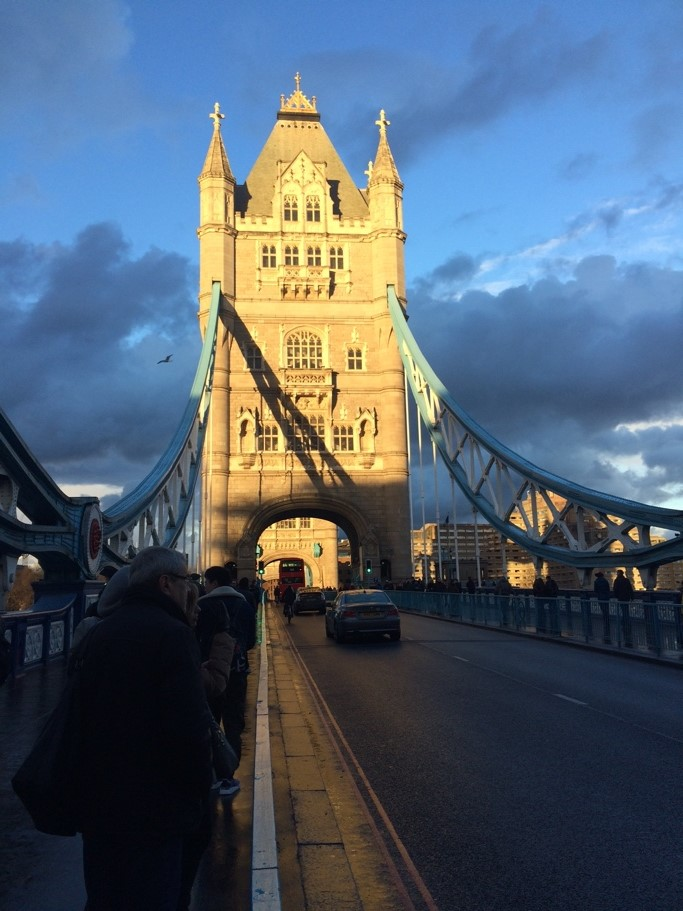 Tower Bridge, London at 3.57 PM